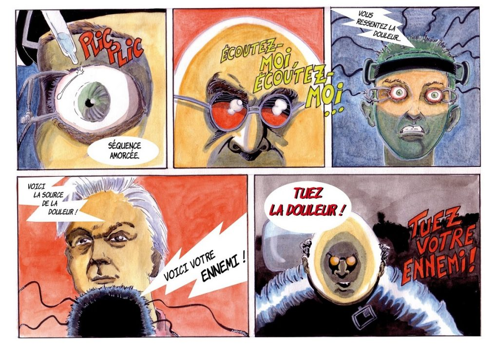 dessin de Zaïtchick sur la bande dessinée Radicale / Jolly Roger