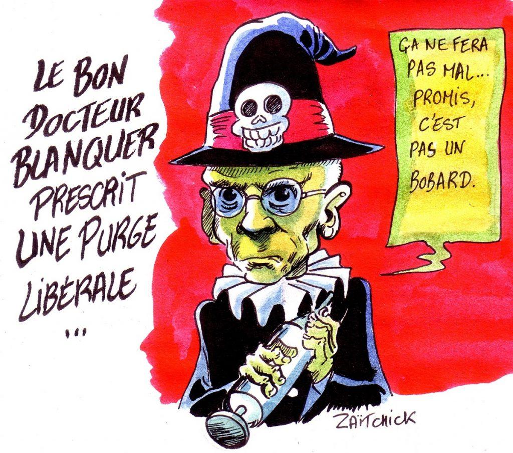 dessin d'actualité sur la loi pour l'école de Jean-Michel Blanquer