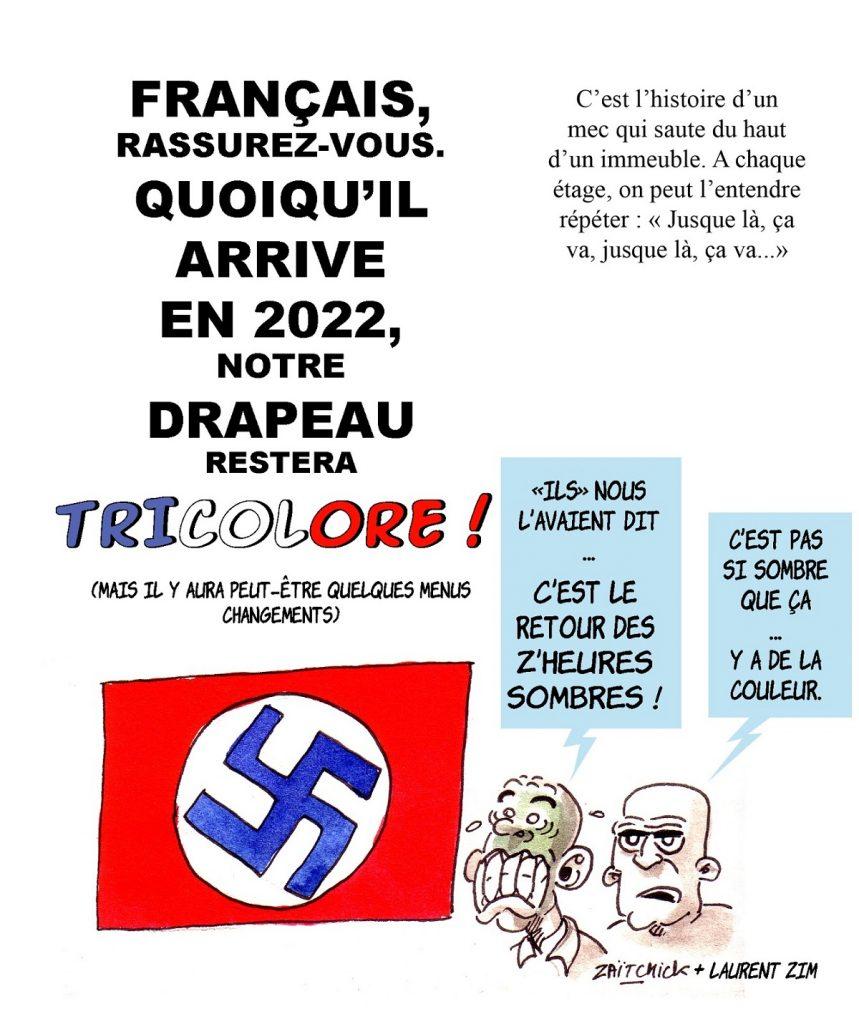 dessin d'actualité humoristique sur la France en 2022