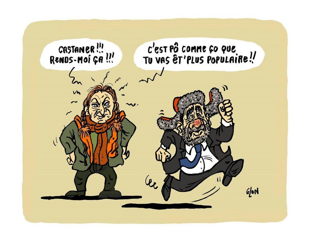 dessin d'actualité humoristique sur le succès de la série française Capitaine Marleau et la popularité de l'actrice Corinne Masiero
