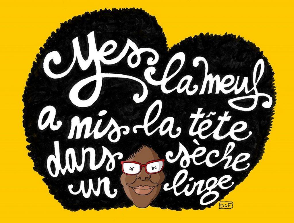 dessin d'actualité humoristique sur la nomination de Sibeth Ndiaye en tant que porte-parole du gouvernent
