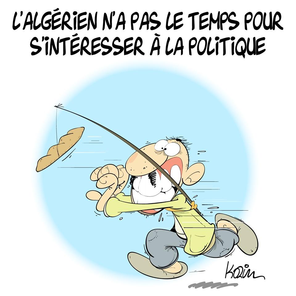 dessin d'actualité humoristique sur le peuple algérien et la politique