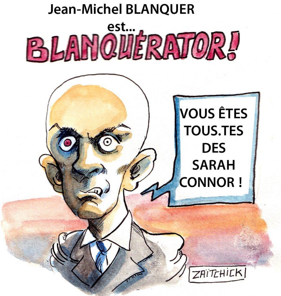 dessin d'actualité humoristique sur Jean-Michel Blanquer et sa réforme de l'école