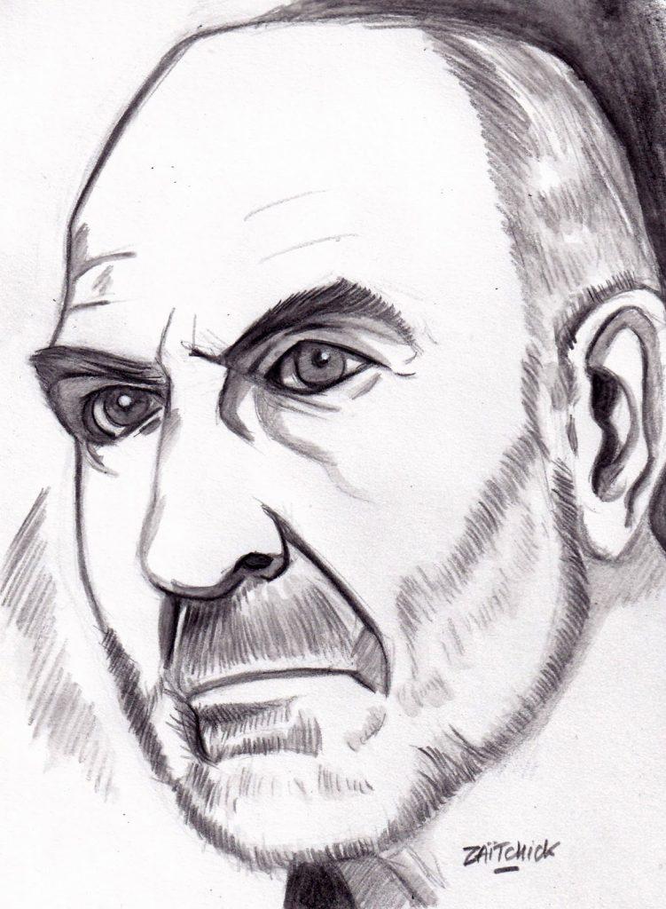 Portrait de Jean-Pierre Marielle par Zaïtchick