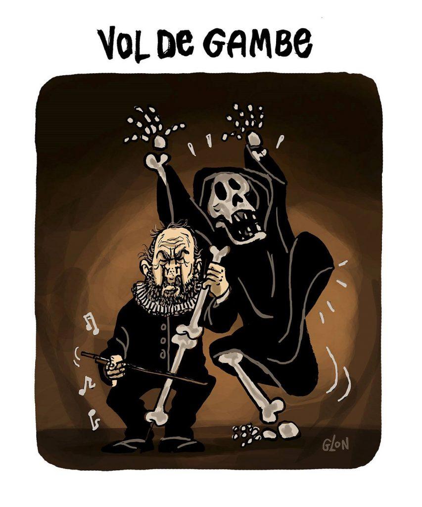 dessin d'actualité humoristique sur la mort de Jean-Pierre Marielle