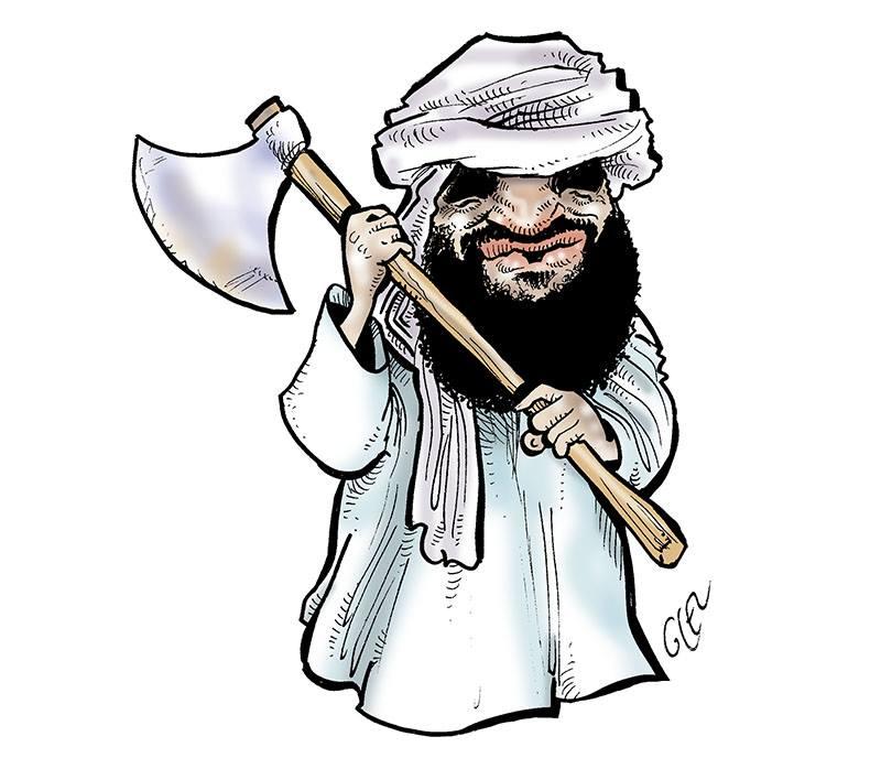dessin d'actualité humoristique sur l'attaque de Dioura au Mali par le Groupe de soutien à l'islam et aux musulmans