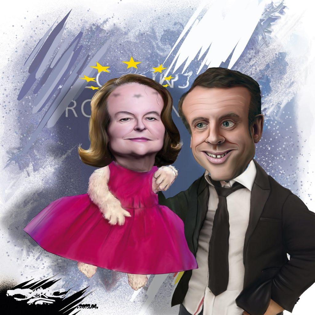 dessin d'actualité humoristique sur la désignation de Nathalie Loiseau pour la tête de liste LREM pour les européennes