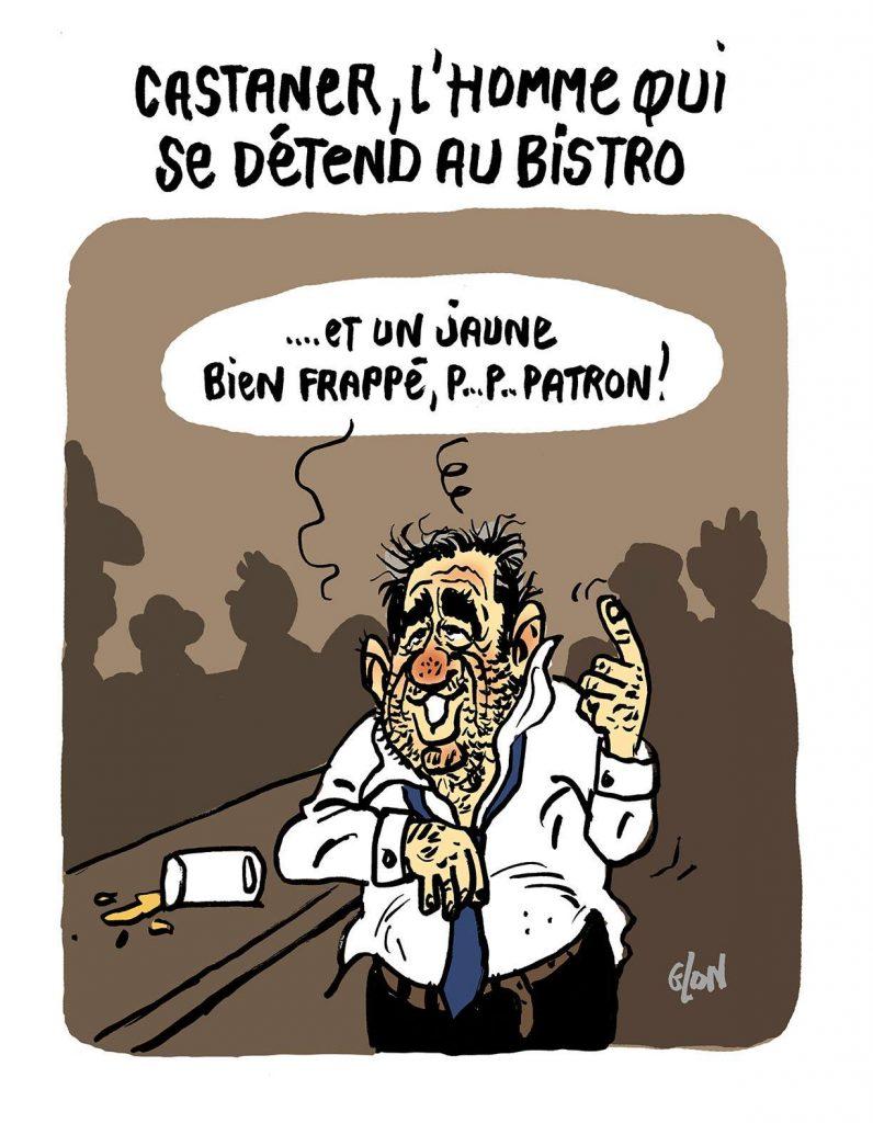 dessin d'actualité humoristique sur Christophe Castaner