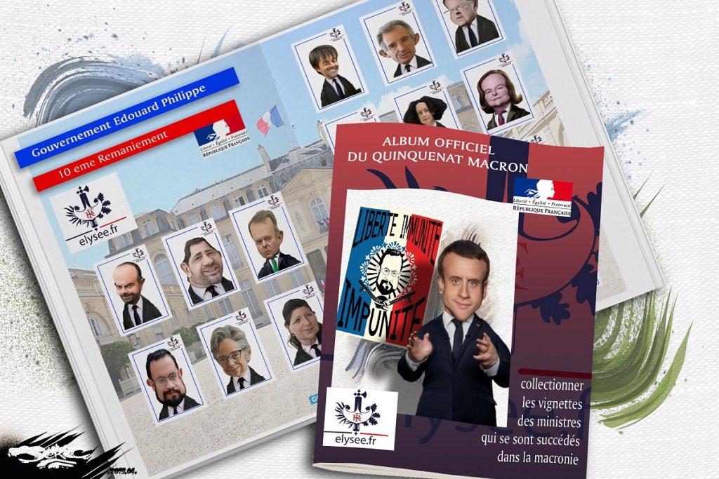 dessin d'actualité humoristique sur les nombreux remaniements du gouvernement d'Édouard Philippe
