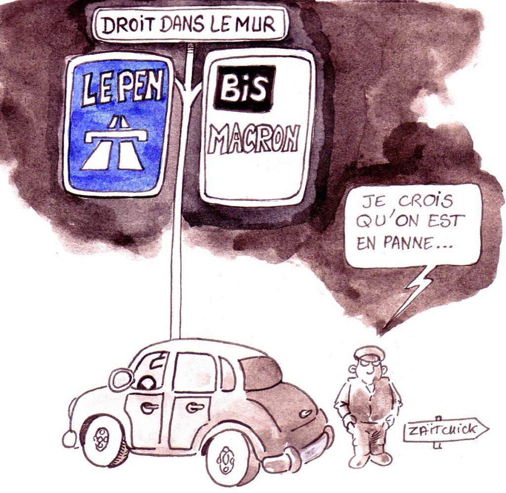 dessin d'actualité humoristique sur le choix des élections européennes