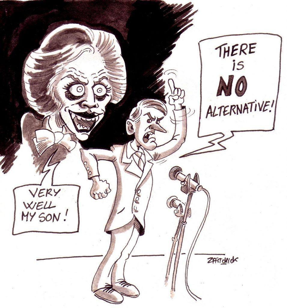 dessin d'actualité humoristique sur Emmanuel Macron et les élections européennes