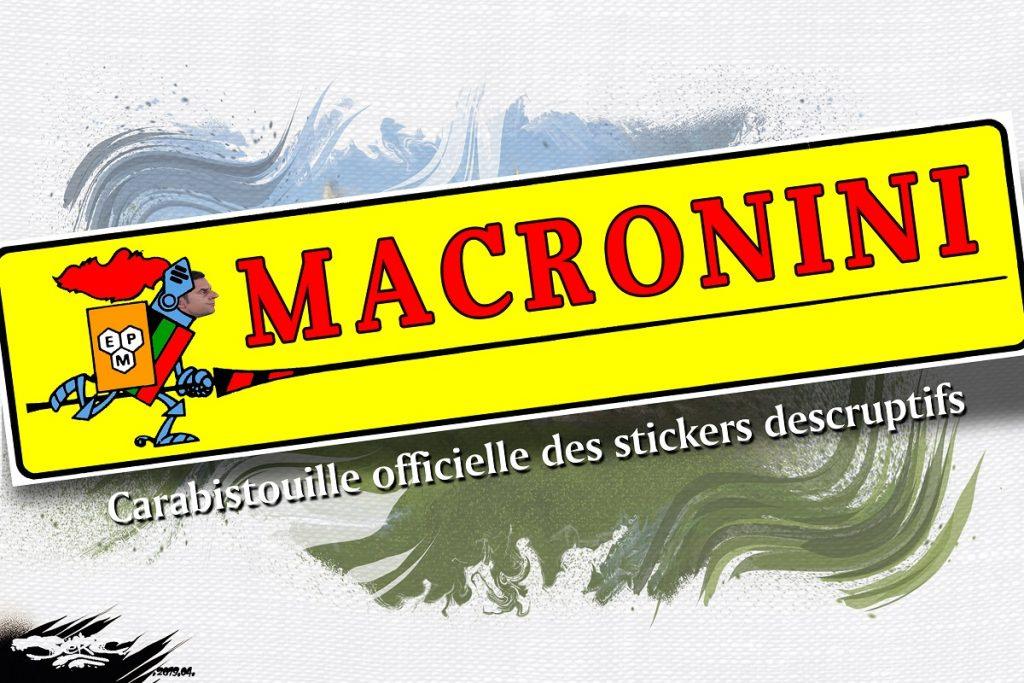 dessin d'actualité humoristique sur la Macronie
