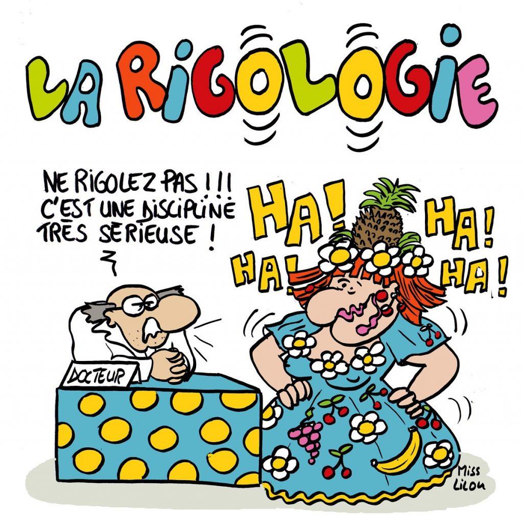 dessin d'actualité humoristique sur la rigologie
