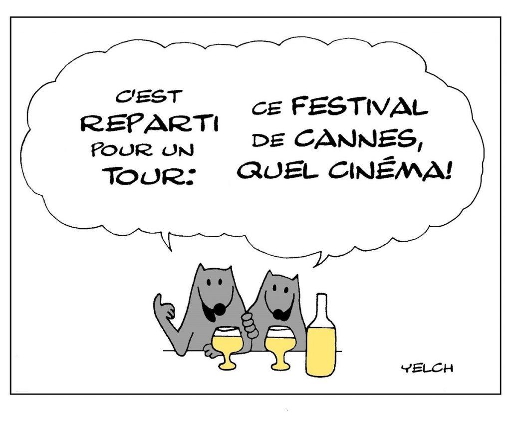 dessin de Yelch sur le festival de Cannes
