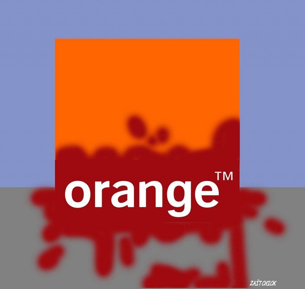 dessin d'actualité humoristique sur le procès du harcèlement moral chez France Télécom devenu Orange