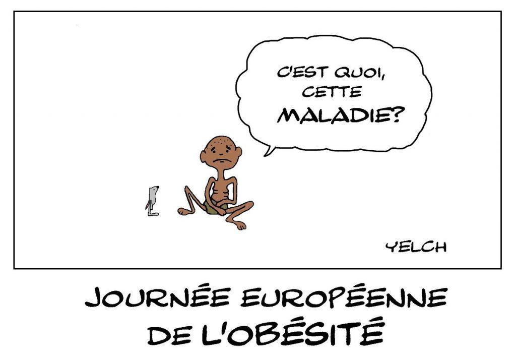 dessin de Yelch sur la journée européenne de l'obésité