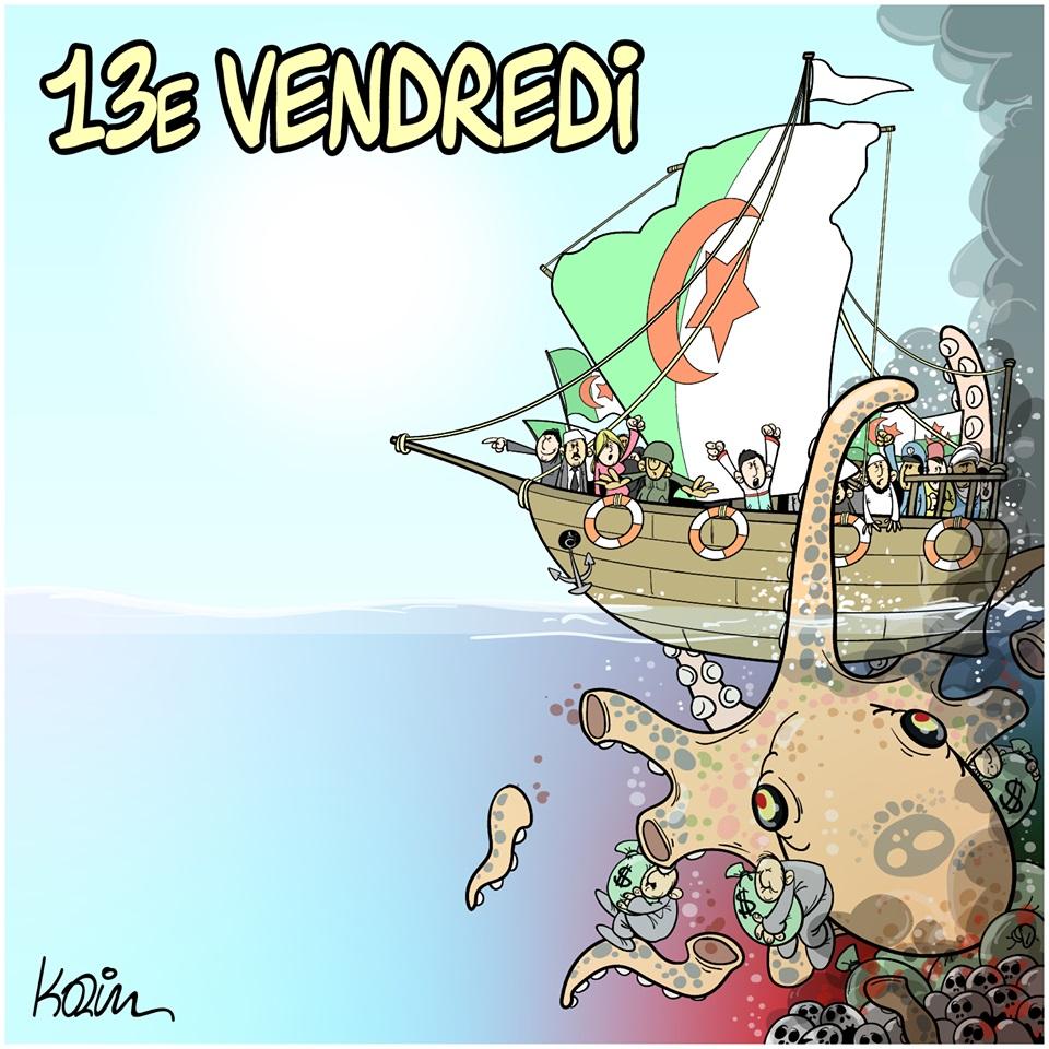 dessin d'actualité humoristique sur la situation actuelle en Algérie