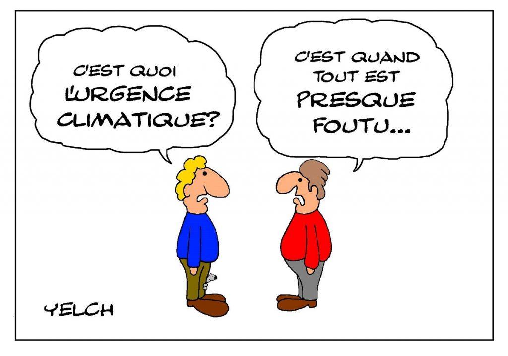dessin de Yelch sur l'urgence climatique