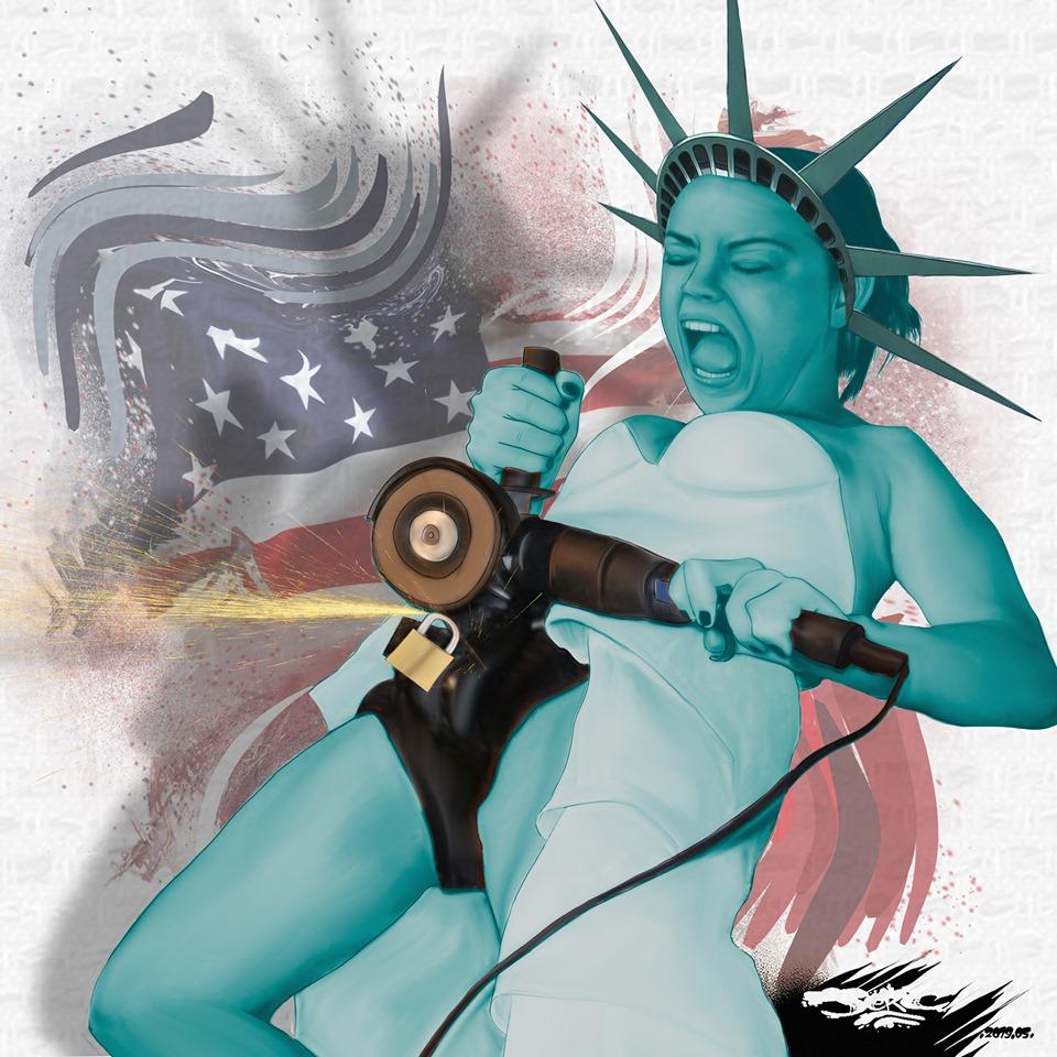 dessin d'actualité humoristique sur les droits des femmes aux États-Unis