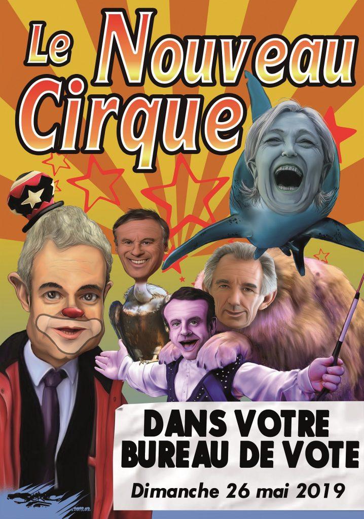 dessin d'actualité humoristique sur les élections européennes