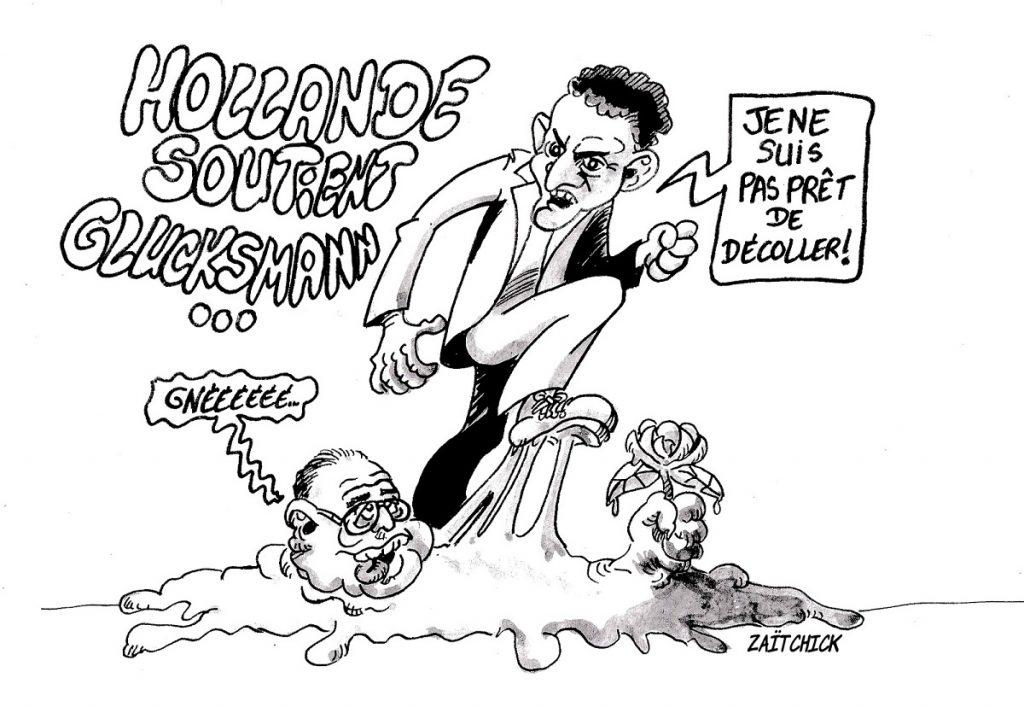 dessin d'actualité humoristique sur la liste socialiste aux élections européennes