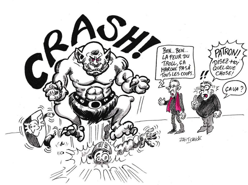 dessin d'actualité humoristique sur le résultat des élections européennes
