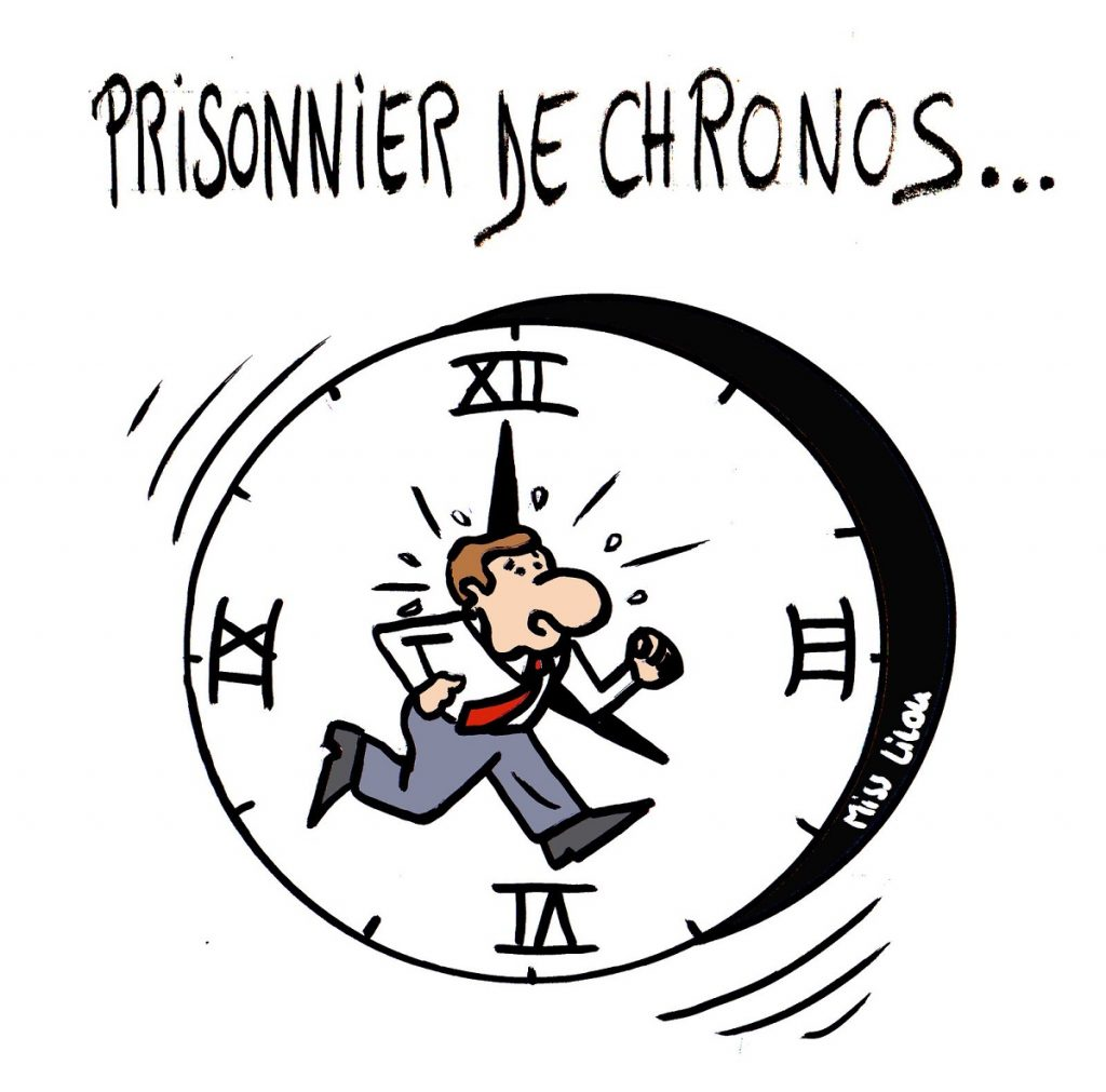 dessin de Miss Lilou sur la pression du temps