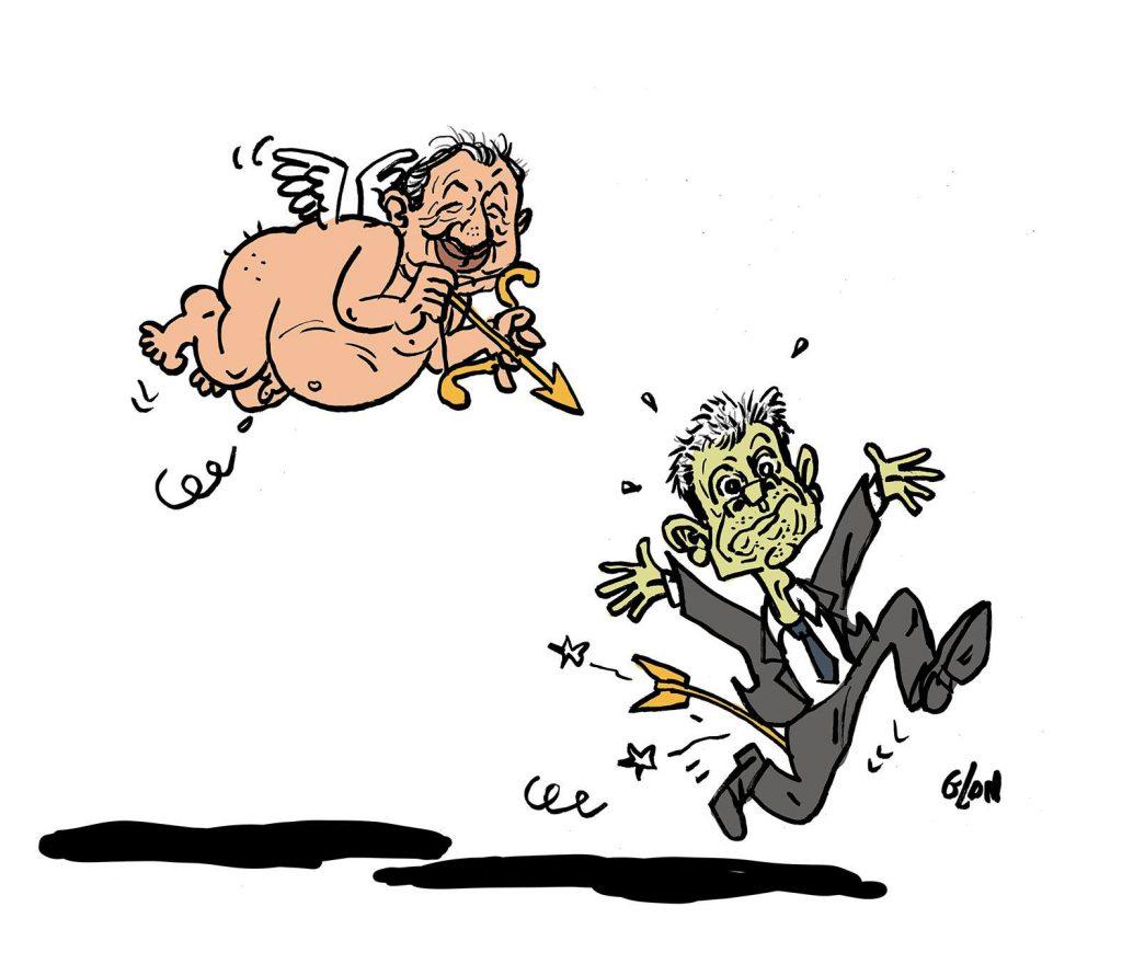 dessin d'actualité humoristique sur les élections européennes et les règlements de compte après la défaite du parti Les Républicains
