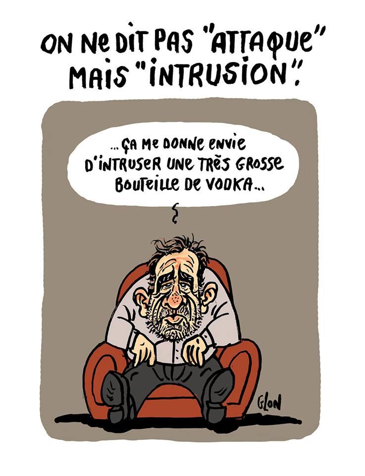 dessin d'actualité humoristique sur l'annonce par Christophe Castaner de l'attaque la Pitié-Salpêtrière