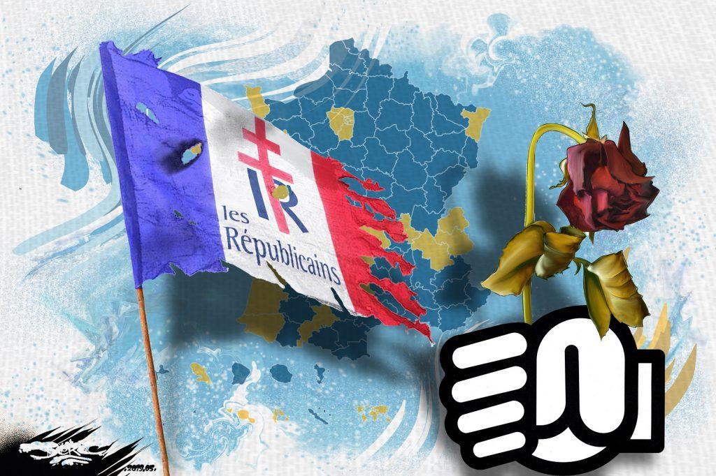 dessin d'actualité humoristique sur le tournant vers l'extrême-droite de l'Europe
