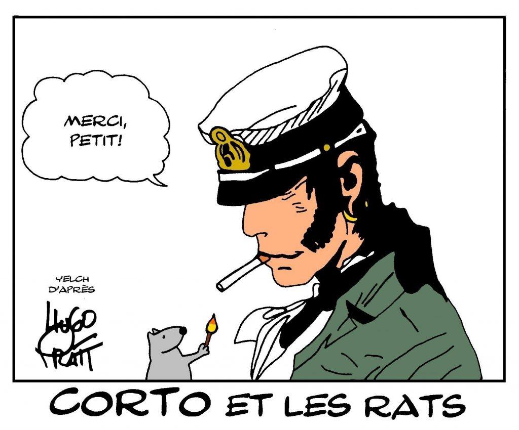 dessin de Yelch sur Corto Maltese