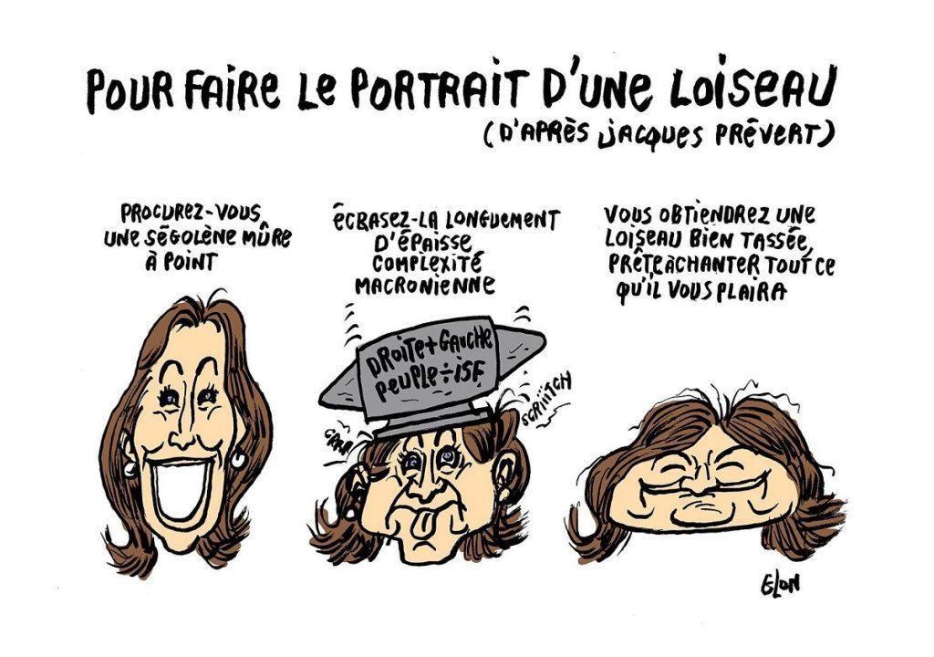 dessin d'actualité humoristique sur Nathalie Loiseau