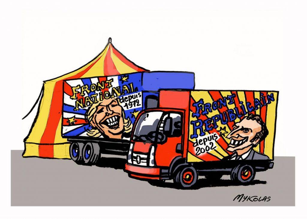 dessin d'actualité humoristique sur les élections