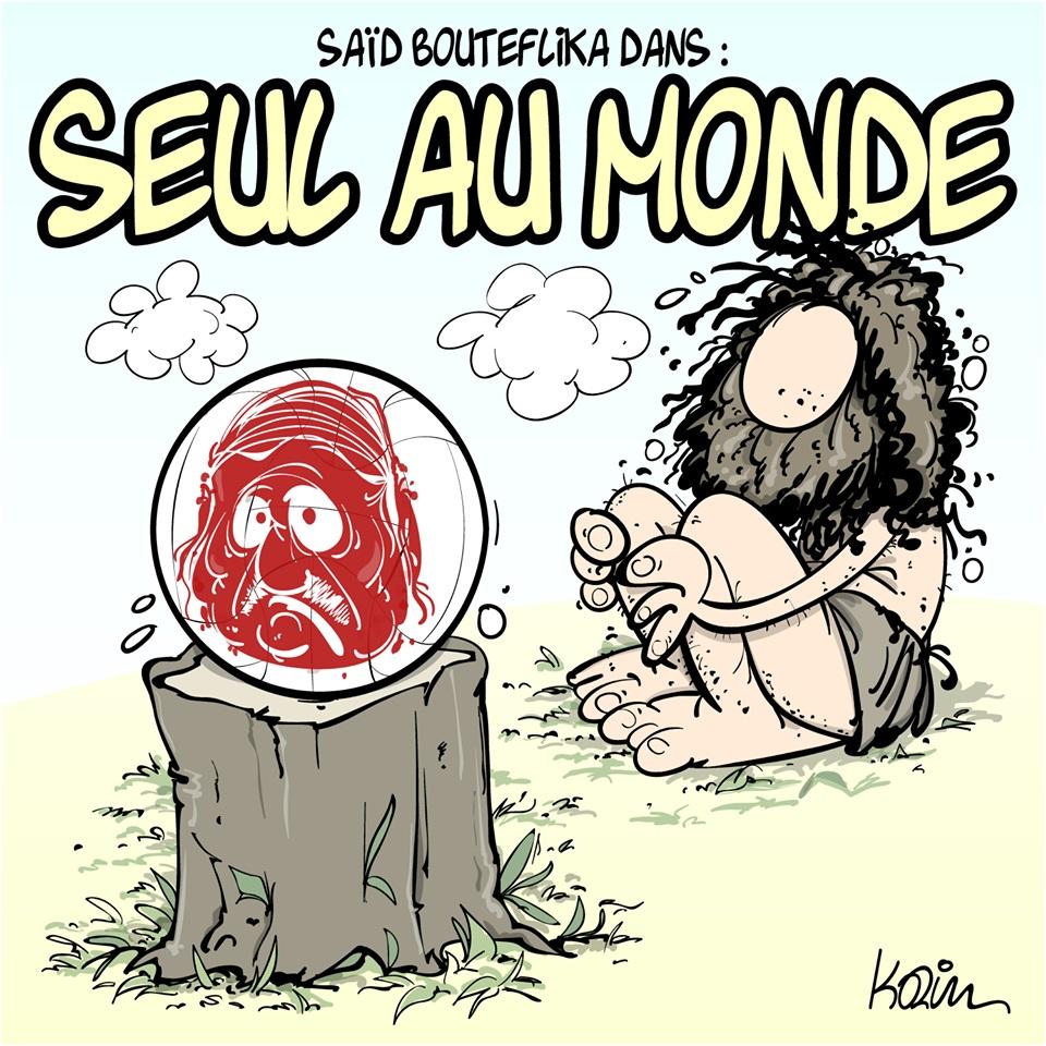 dessin d'actualité humoristique sur l'arrestation de Saïd Bouteflika en Algérie