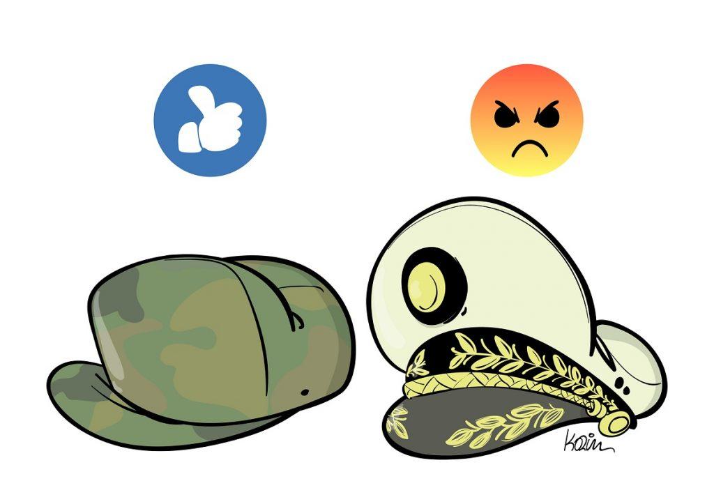 dessin d'actualité humoristique sur politique algérienne et la dominance militaire