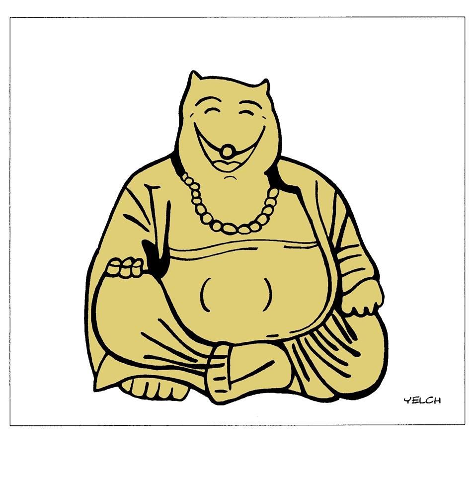 dessin de Yelch sur le Bouddha