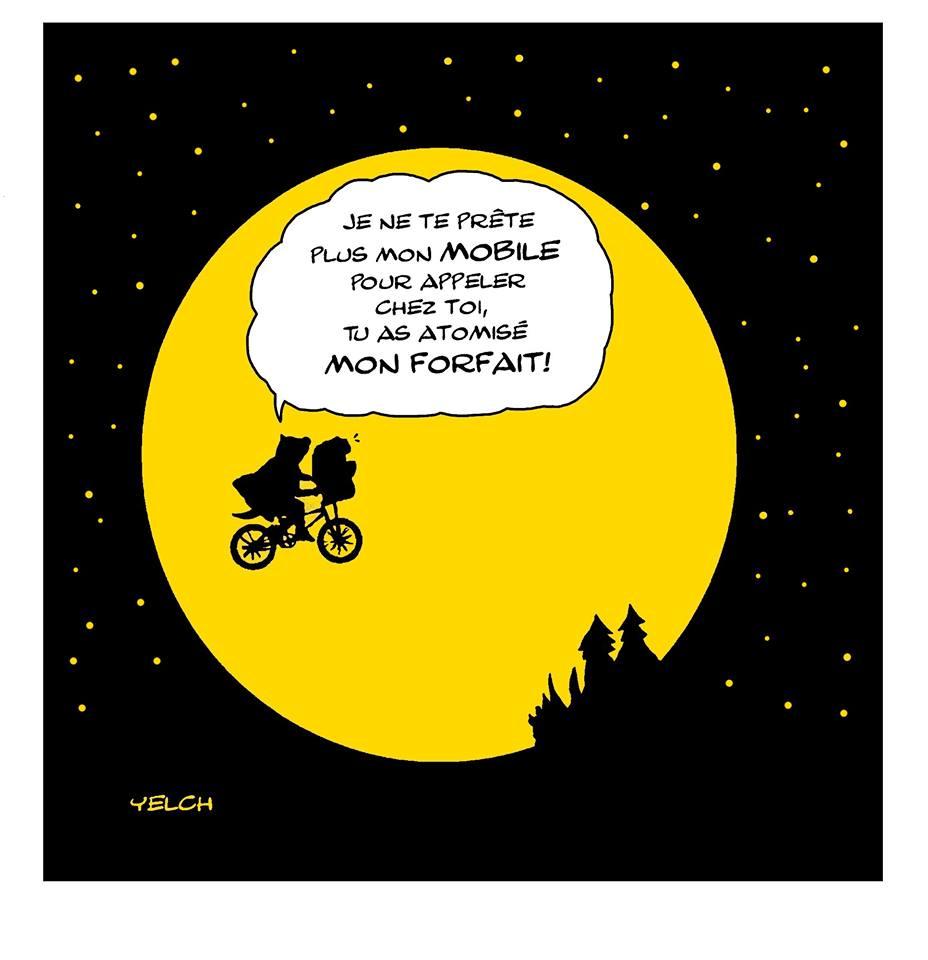 dessin de Yelch sur E.T. l'extraterrestre
