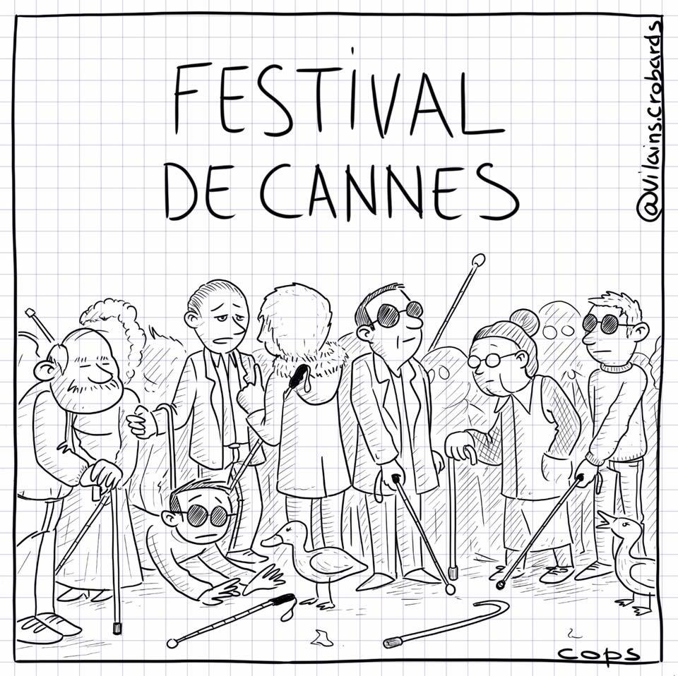 dessin de Cops sur un festival de cannes