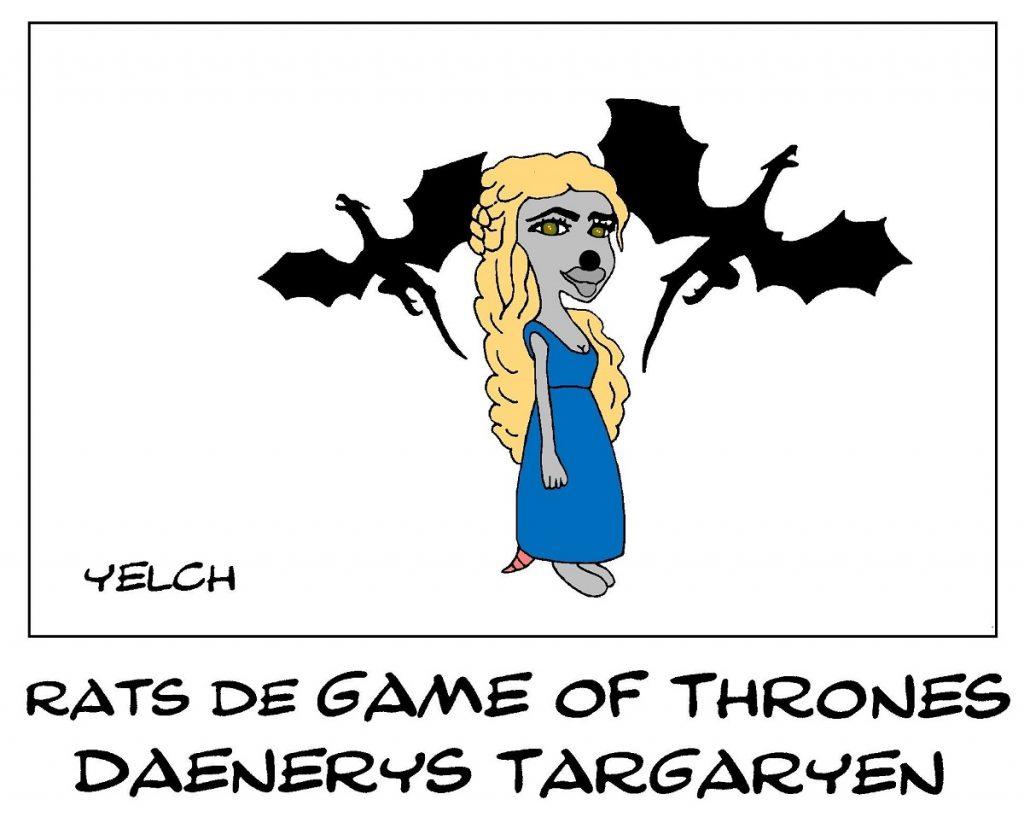 dessin de Yelch sur Daenerys Targaryen dans la série Game of Thrones
