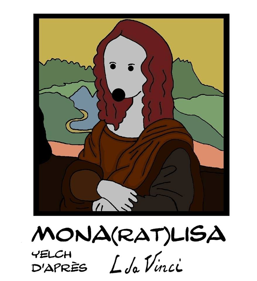 dessin de Mona Lisa par Yelch d'après Léonard de Vinci