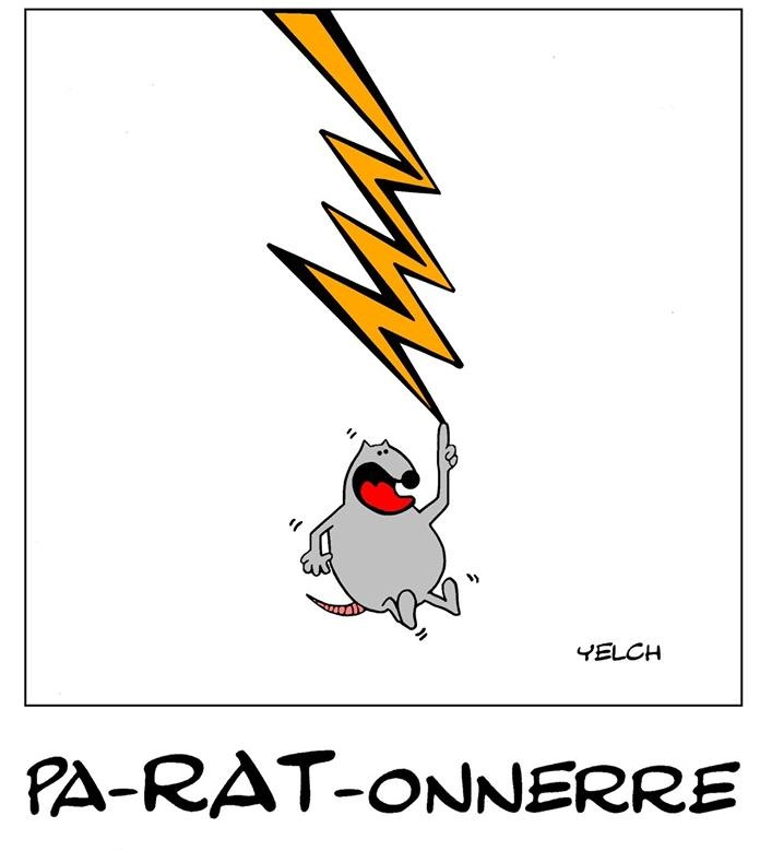 dessin de Yelch sur les rats, les éclairs et les paratonnerres