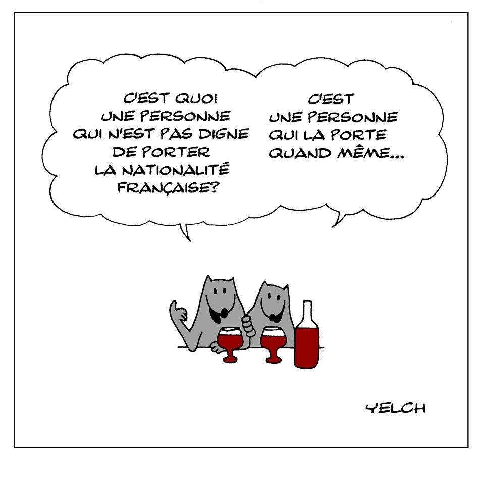 dessin de Yelch sur la nationalité française