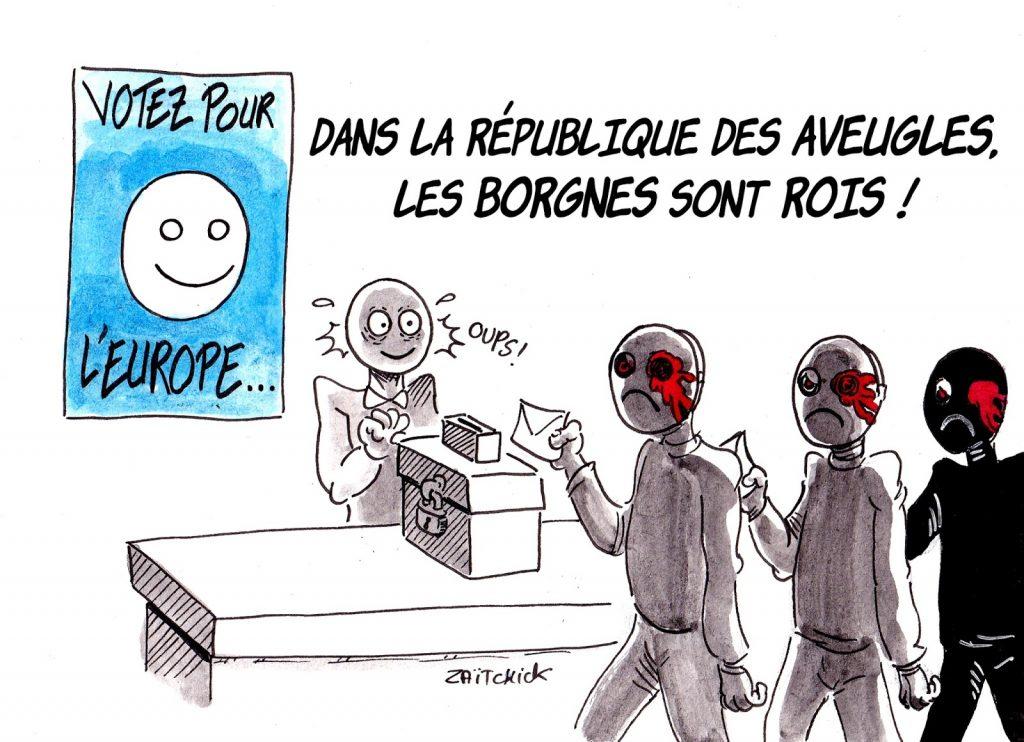 dessin humoristique sur les élections européennes
