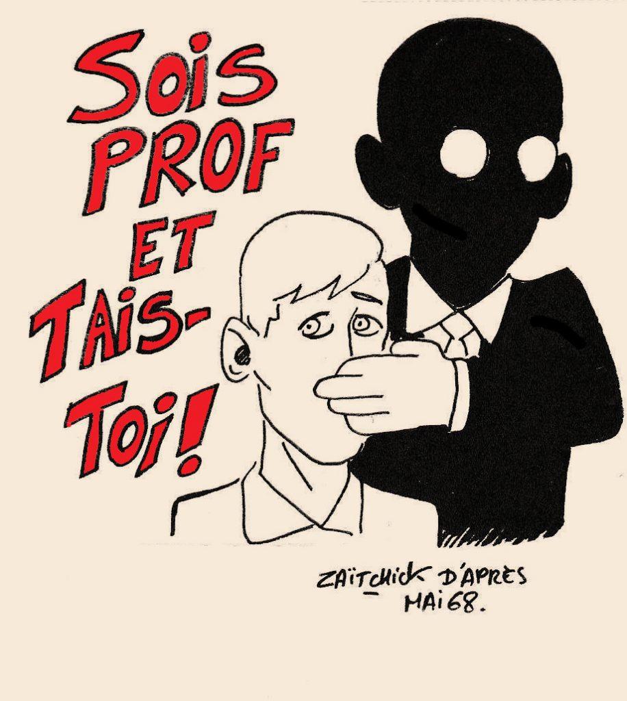dessin humoristique sur le professorat aujourd'hui