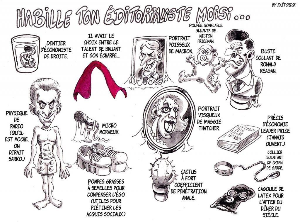 dessin d'actualité humoristique sur Christophe Barbier