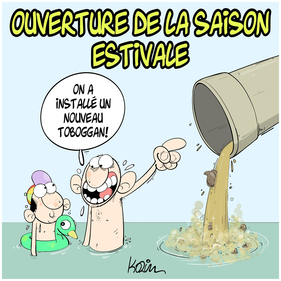 dessin d'actualité humoristique sur le début de la saison estivale en Algérie