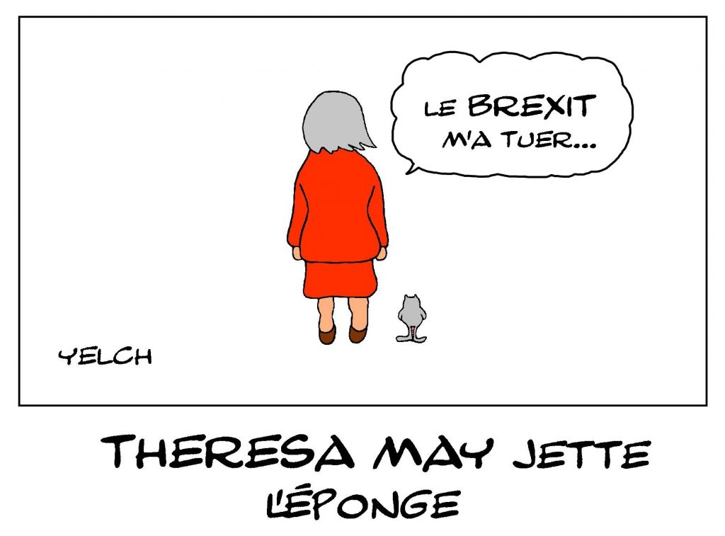 dessin de Yelch sur la démission de Theresa May