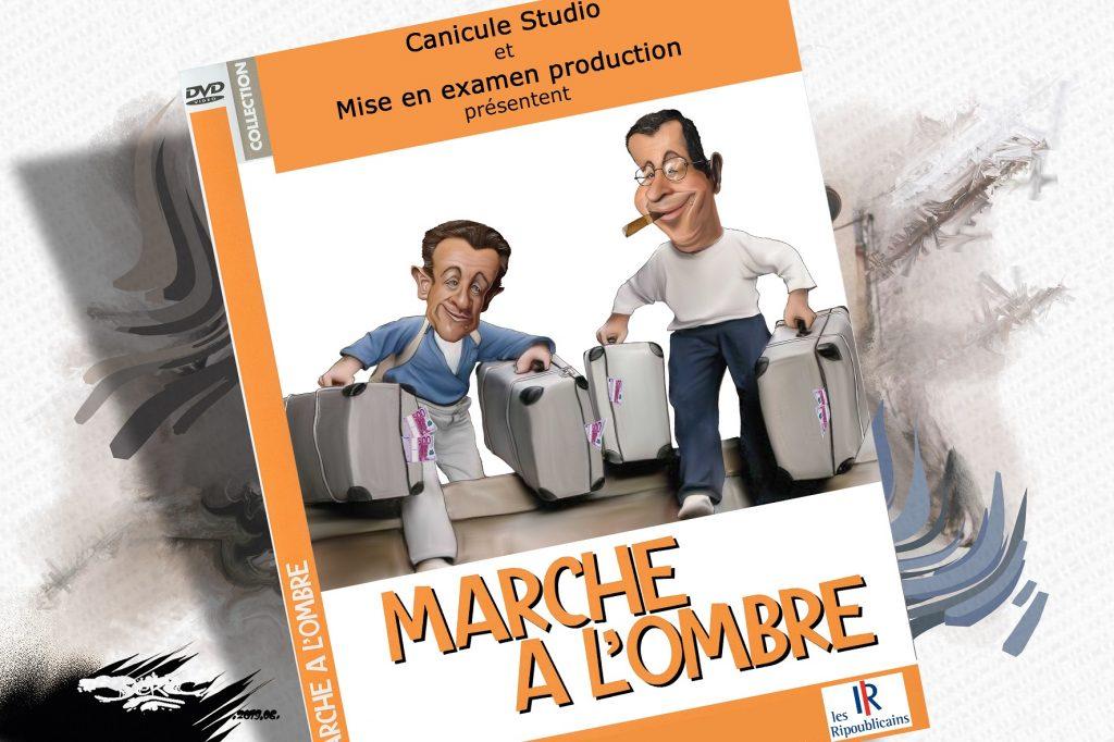 dessin d'actualité humoristique sur la canicule et les affaires Sarkozy et Balkany