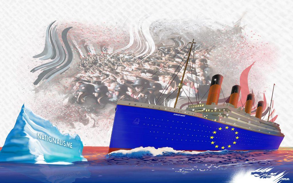 dessin d'actualité humoristique sur la dérive de l'Europe vers l'extrême droite