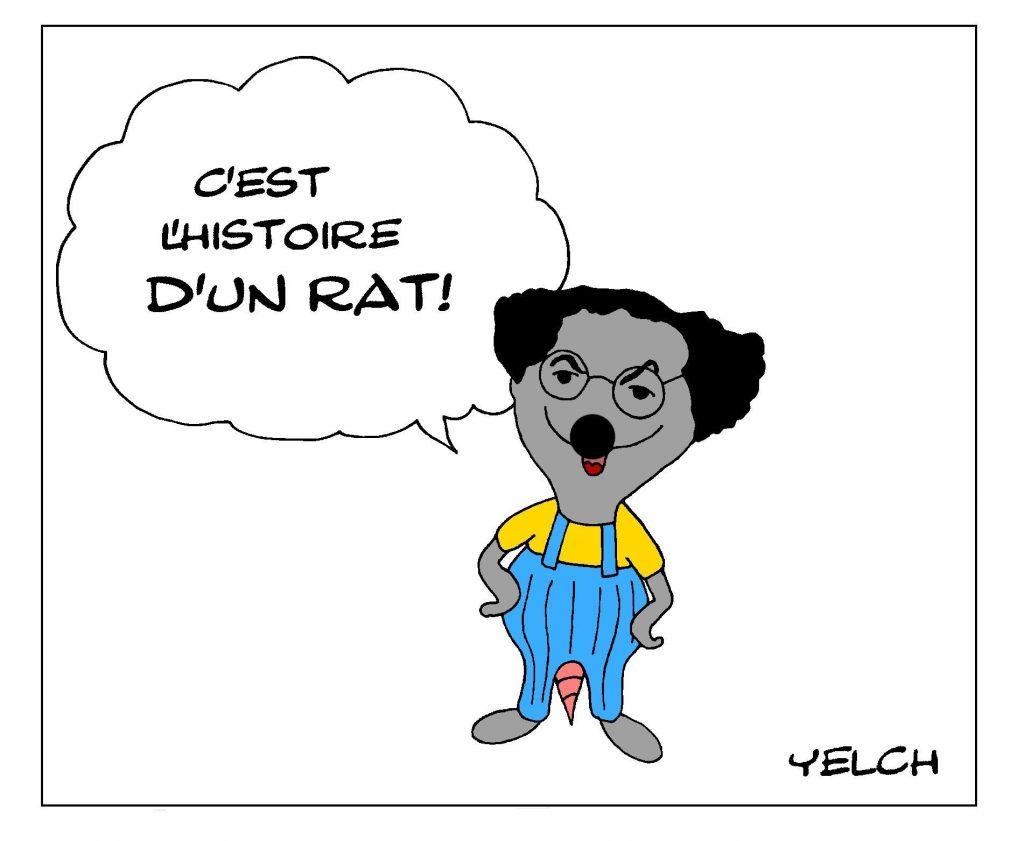 dessin de Yelch en hommage à Michel Colucci dit Coluche